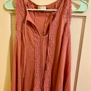 Anthropologie lace detailed tank